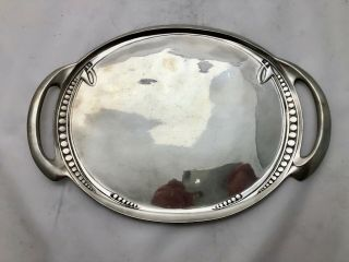 Fine Liberty & Co Tudric Pewter Salver Or Drinks Tray By Archibald Knox 0311