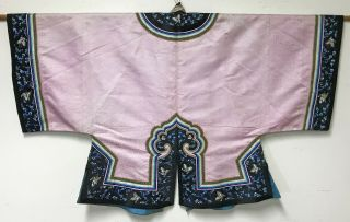 Old Chinese Womans Pink Silk Robe Jacket