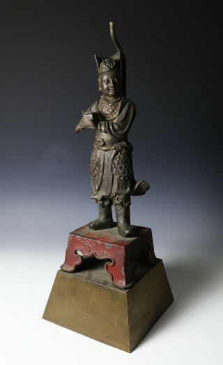 Large And Finely Cast Antique Chinese Ming Bronze Statue - Ming Dynasty