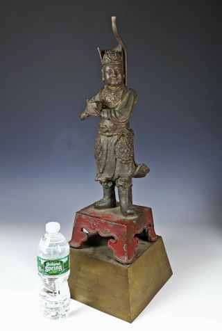 Large and Finely Cast Antique Chinese Ming Bronze Statue - Ming Dynasty 2