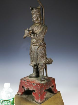 Large and Finely Cast Antique Chinese Ming Bronze Statue - Ming Dynasty 3