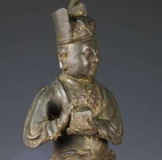 Large and Finely Cast Antique Chinese Ming Bronze Statue - Ming Dynasty 6
