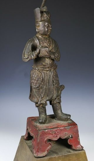 Large and Finely Cast Antique Chinese Ming Bronze Statue - Ming Dynasty 8