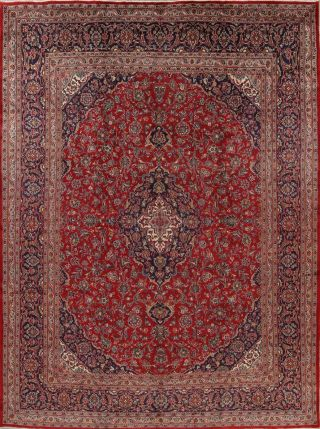Kashmar Persian 10x13 Wool Hand - Knotted Geometric Oriental Area Rug 12