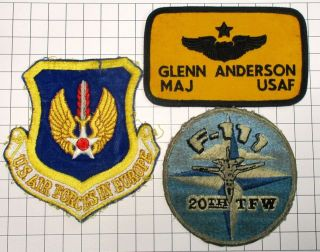 Usaf Military Patch Air Force Usafe 20th Tfw 79th Tfs Named Tag Badge (3) Set1