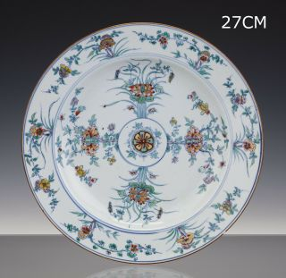 Stunning Chinese Porcelain Doucai Charger - 18th Century - Kangxi - Top - 27cm
