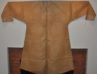Antique Chinese Qing Dynasty Silk Gauze Summer Robe