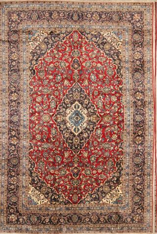 Wool Persian Traditional Area Rug Oriental Floral Hand - Knotted Carpet 8 X 12 Red
