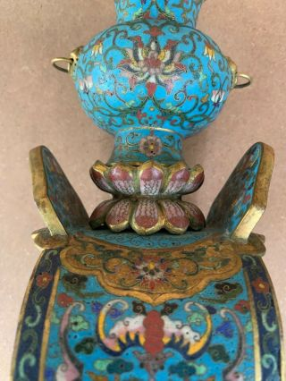Antique Cloisonne Elephant with Stand 19th C 11
