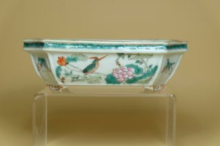 A Chinese Famille Rose Porcelain Narcissus Pot.