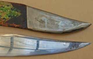 Patriotic USA ETCHING Antique BOWIE KNIFE Edward BARNES & Sons Sheffield 6