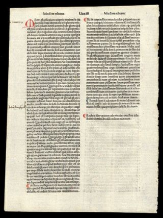 The Passion Of Christ Our Lord Rare Incunable Leaf 1485 Hand - Colored Letters