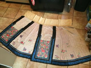 Chinese19thc Embroidered Skirt Pannels