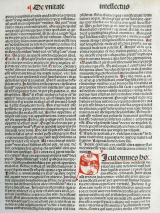 Rubricated Incunable Leaf Folio Thomas Aquinas (28) - 1490