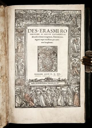 1519 Erasmus Annotations To Greek - Latin Testament Bible Reformation Binding