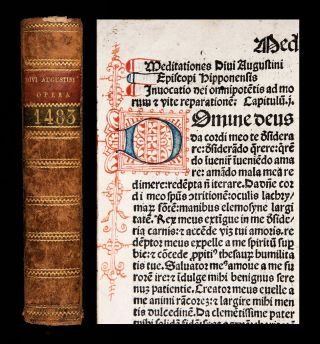 Incunable 1483 Saint Augustine Confessions Catholic Divination Of Demons Occult