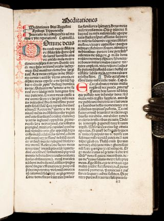 INCUNABLE 1483 Saint AUGUSTINE CONFESSIONS Catholic DIVINATION OF DEMONS Occult 2
