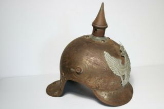 Orig Ww1 German Prussian Pickelhaube Lobster Tail Helmet Dragoner Weissenberger