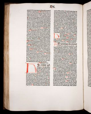 JENSON 1481 THOMAS AQUINAS on Sentences SACRAMENTS MARRIAGE Catholic INCUNABLE 9
