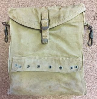 Authentic & Rare Wwii U.  S.  Army Combat Infantry Airborne Canvas Medic Kit Bag