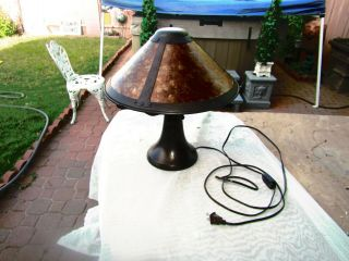 Mica Lamp Company Mission Arts & Crafts Mica Table Lamp