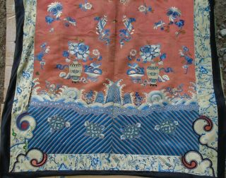 """"""" Large """" 94 X 35 Inches Chinese Silk Embroidered Kesi Panel Nr"""