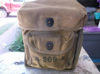 Rare Wwii Us Army Hagelin M209a Crypto Coding Machine Case Coder Carrier Pouch