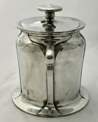 rare liberty & co tudric pewter biscuit barrel by C F A Voysey early mark 059 2
