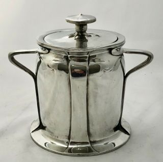 rare liberty & co tudric pewter biscuit barrel by C F A Voysey early mark 059 3