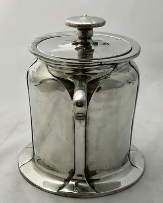 rare liberty & co tudric pewter biscuit barrel by C F A Voysey early mark 059 4