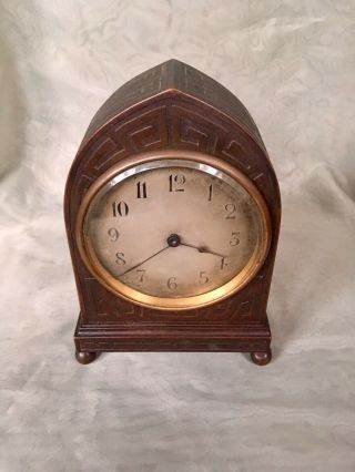 Tiffany Studios Bronze Mantel Clock