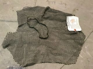 """10s Wwii Us M1944 """" Shrimp """" Combat Field Net & Liner Band - Old Stock"""
