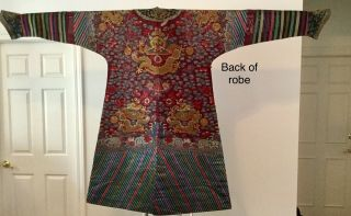 Embroidered Chinese Qing Dynasty Robe, 2