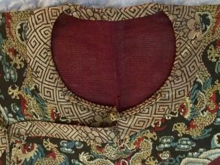 Embroidered Chinese Qing Dynasty Robe, 7