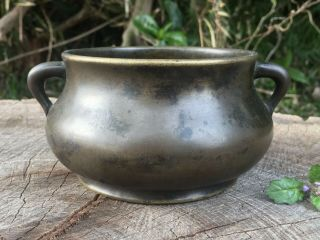 Chinese Antique 18th Century Bronze Censer Xuande Mark