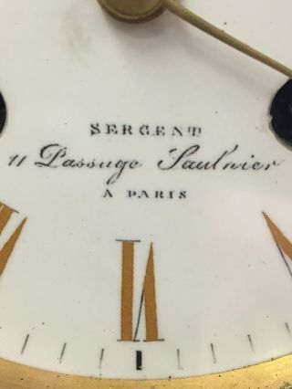 Bronze & Marble French Mantle Clock Stunning 9