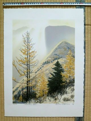 Japanese Lithograph - Print,  Brian Williams,  Mountain Glow,  Large,