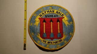 Extremely Rare Uss Nathan Hale (ssbn - 623) Nuclear Powered Submarine Patch.  Rare