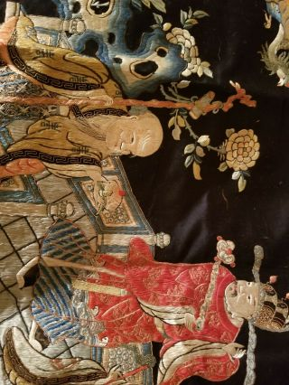 antique chinese silk tapestry very old 3
