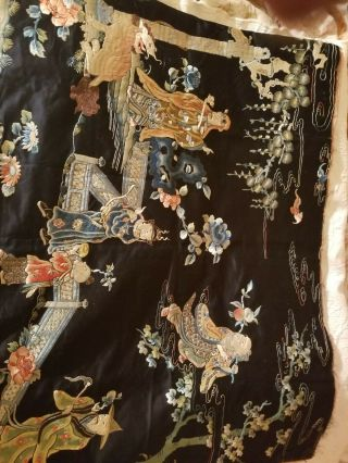 antique chinese silk tapestry very old 5