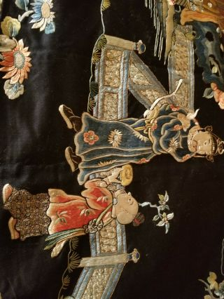 antique chinese silk tapestry very old 6