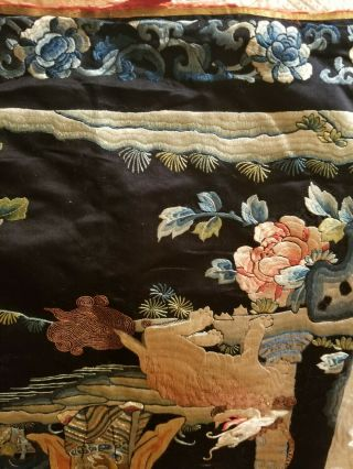 antique chinese silk tapestry very old 8