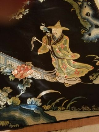 antique chinese silk tapestry very old 9
