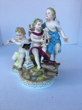 Antique Meissen Porcelain Group of Music 1st Quality 2