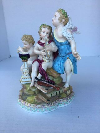 Antique Meissen Porcelain Group of Music 1st Quality 6