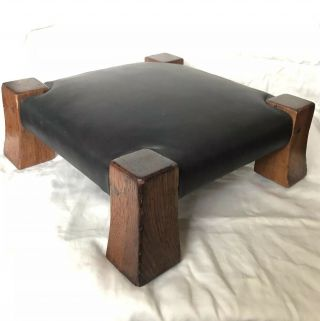 "Rare Gustav Stickley Oak ""monk's Stool"" No.  302 C.  1910"