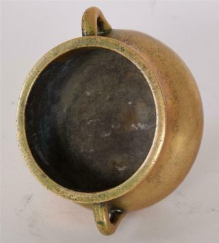 Late Ming or Early Qing Chinese Bronze Bombe Censer Incense Burner Xuande Mark 11