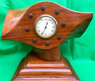 "C1920's - Large Propeller Mantel Clock - French 8 Day Movement ""japy"""