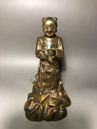 Chinese Antique Gilt Bronze Buddha/immortal Qing Dy.
