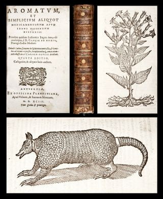 1593 Orta,  Monardes & Acosta Medicinal Plants Of India & America Medical Botany